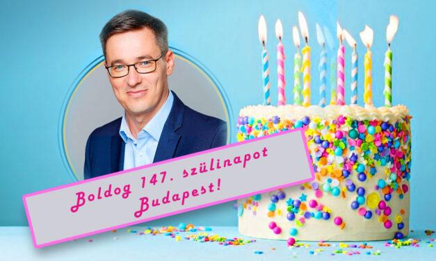 """""""Sajátos születésnapi ajándékot kapott a 147 éves Budapest"""" – mondta a főpolgármester"""