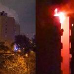 Óriási paneltűz Kispesten, négy embert kimenekítettek a tűzoltók, volt, akit álmából risztottak.