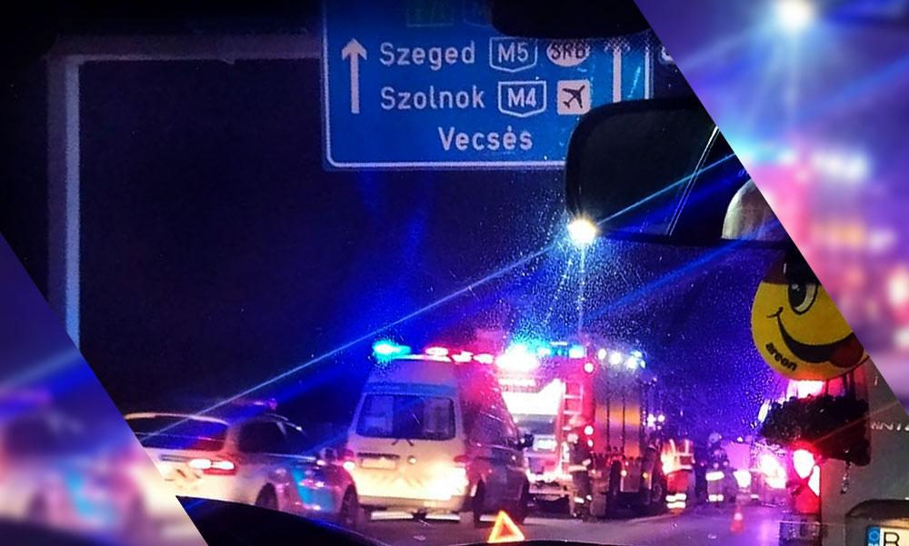 Tömegkarambol az M0-áson, 11 autó ütközött Ecser térségében, hatalmas a torlódás