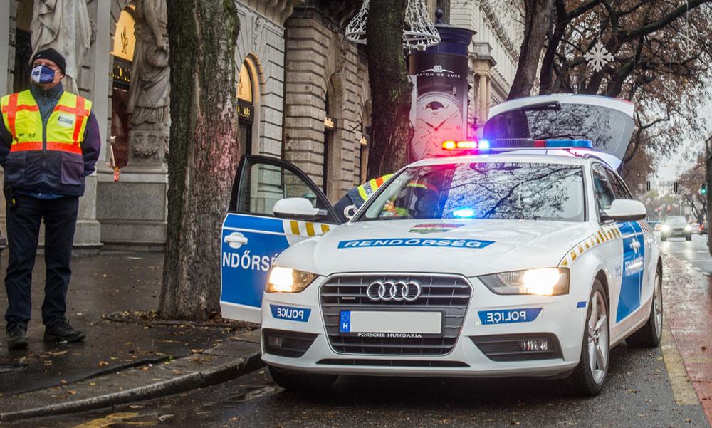 Autós üldözés a belvárosban, két drogdíler próbált elmenekülni a rendőrök elől