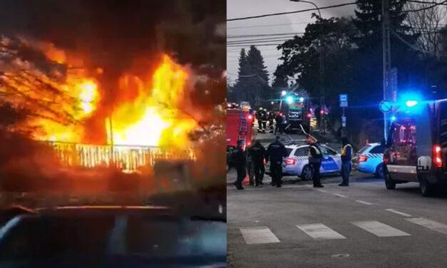 Megtörtént az amitől a környéken élők rettegtek: kigyulladt a lomos autószerelő műhely