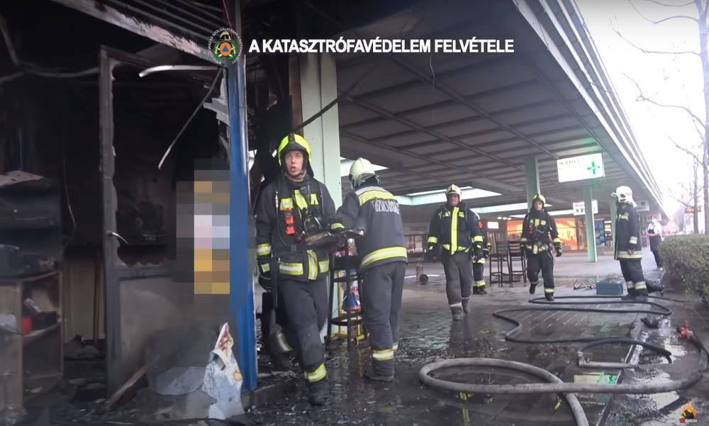 Így pusztított a tűz a csepeli gyorsbüfében: a robbanásban heten sérültek meg – videó