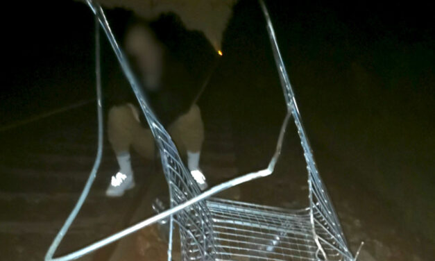 Valósággal szétrobbant a gyorsvonat elé tett bevásárlókocsi és kuka Rákoshegyen