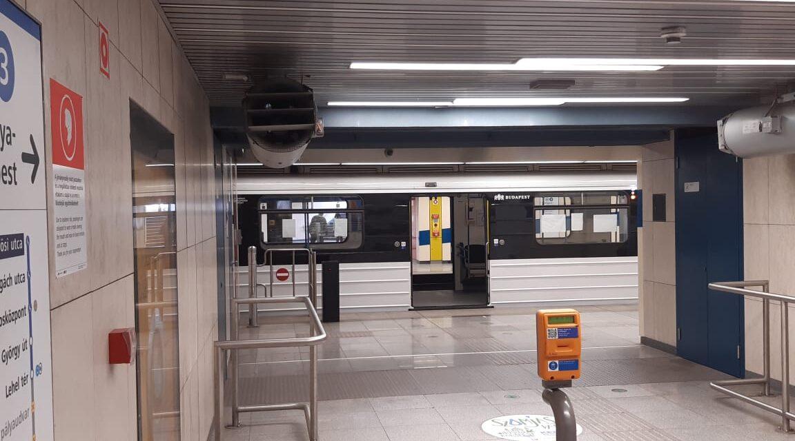 Életveszélyes állapotban van az a férfi, akit a 3-as metró gázolt el a Gyöngyösi utcánál