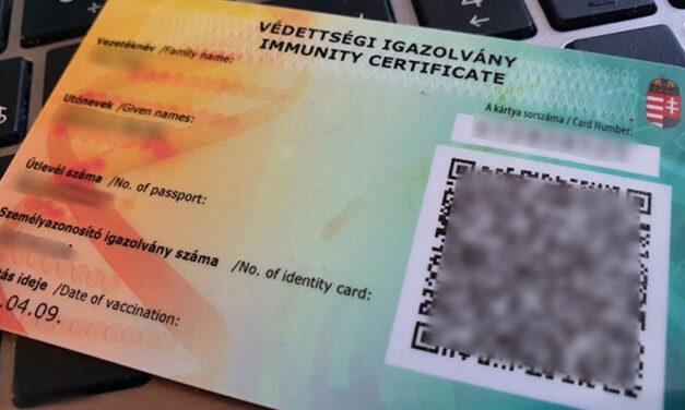 Védettségi igazolvány: kölcsönösen elismeri Szlovákia és Magyarország egymás igazolását