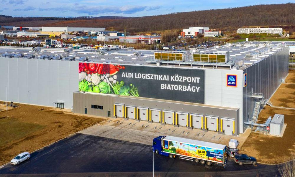 Gigantikus hűtőszekrényt épített az ALDI az agglomerációban