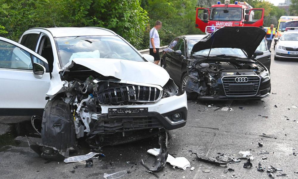 """""""Próbáltam elkerülni a frontális ütközést"""" megszólalt a ferihegyi gyorsforgalmin súlyos balesetet szenvedett Audi sofőrje"""