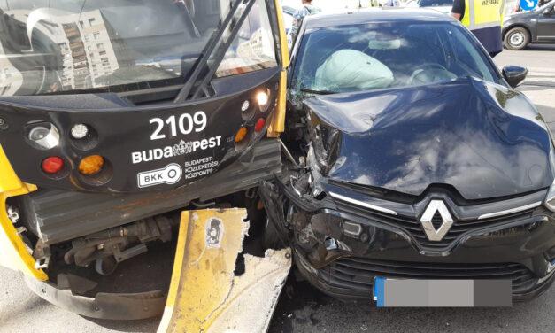 Mi történik Budapesten? Egyik baleset követte a másikat: négyes karambol a Gellért-hegynél, ütközés a 12. és a 3. kerületben, az 1-es villamos is kisiklott – fotók