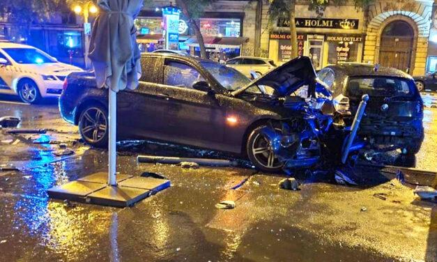 Piás volt a BMW sofőrje, aki egy másik BMW-be csapódott a Nagykörúton