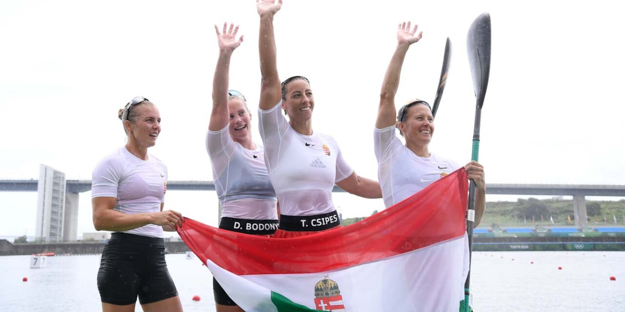 Már 6 aranyérmet nyertek a magyar sportolók a tokiói olimpián, a női kajak 4-es történelmi bravúrt hajtott végre