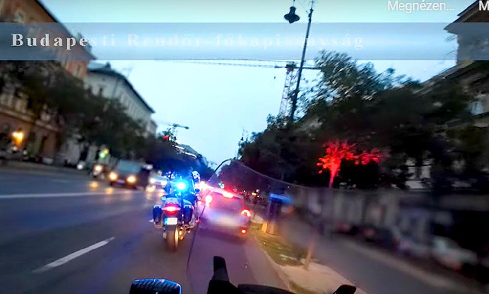 Esztelen száguldozás az Andrássy úton, motoros rendőrök csaptak le a gyorshajtókra