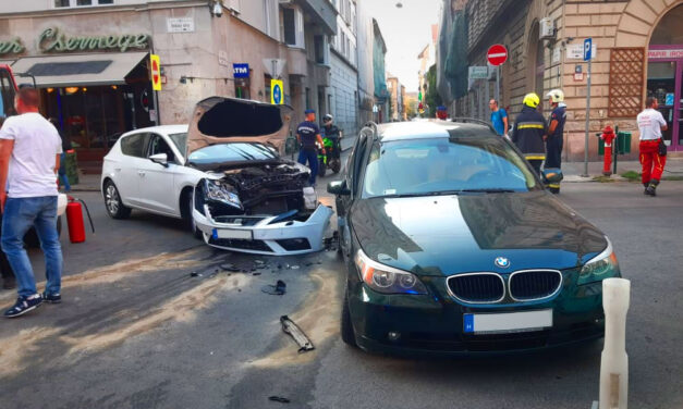 A BMW-s nő azt hitte neki van elsőbbsége, rosszul gondolta, kórházba került