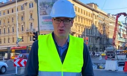 """""""Megdobálták a Blahán dolgozó munkásokat és kiabáltak velük"""" – mondta Karácsony Gergely, aki személyesen ment ki az építkezésre"""