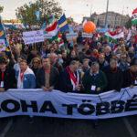 Pataky Attila és Fásy Ádám vonult a Békemenettel, az ellenzék Jordán Tamással és Czutor Zolival erősített